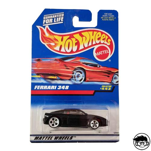 Hot Wheels Ferrari 348 1998 Collector #443 long card