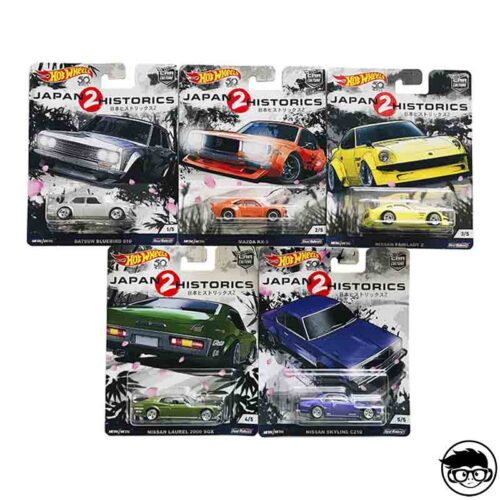 Hot Wheels Japan Historics 2 5 Car Set 2018 long card
