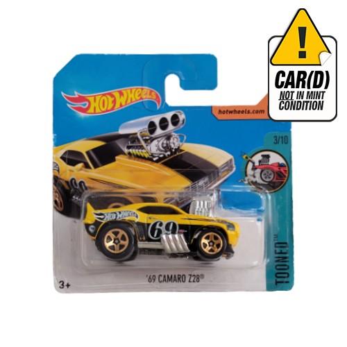 Hot Wheels '69 Camaro Z28 Tooned 3/10 short card 2017 Treasure Hunt