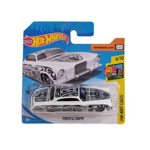 Hot wheels Fish'D & Chip'D Hw art cars 113/250 2019 short card